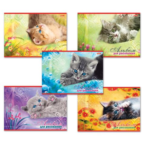 Альбом для рисования, А4, 20 листов, обложка картон, HATBER, 205х290 мм,