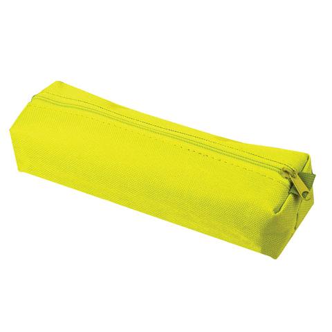 Пенал-тубус ПИФАГОР на молнии, текстиль, желтый, 20х5 см, 104388