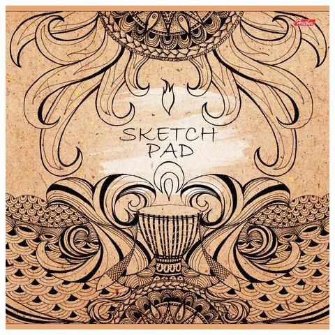 Скетчбук (альбом для эскизов), белая бумага, 290х290 мм, 100 г/м2, 32 л.,