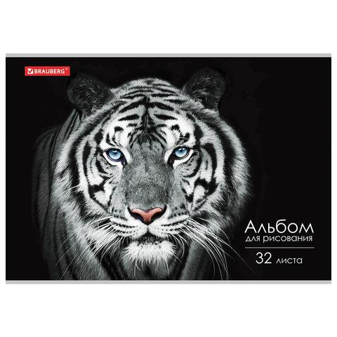 Альбом для рисования А4 32 л., скоба, обложка картон, BRAUBERG ЭКО, 202х285 мм,