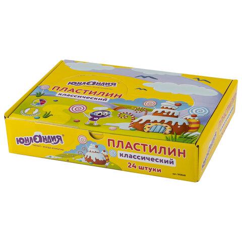 Пластилин ЮНЛАНДИЯ (1 брусок), брусок 60 г, ассорти, ВЫСШЕЕ КАЧЕСТВО, 105868