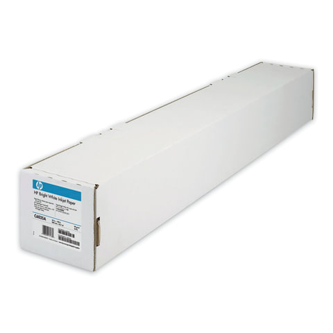 Рулон для плоттера, 610 мм х 45 м х втулка 50,8 мм, 90 г/м2, белизна CIE 168%, Bright White InkJet HP C6035A