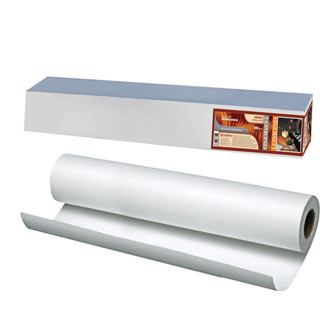 Рулон для плоттера (холст), 610 мм х 15 м х втулка 50,8 мм, 340 г/м2, ярко-белый, матовое, хлопковое покрытие, LOMOND,1207071