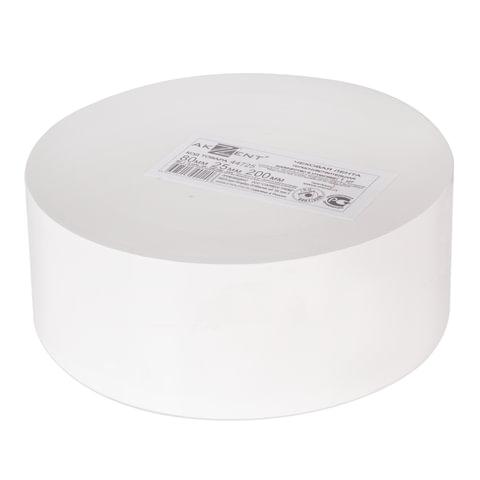 Чековая лента ТЕРМОБУМАГА 80 мм (диаметр 200 мм, длина 425 м, втулка 26 мм) слой наружу, AKZENT, 44725