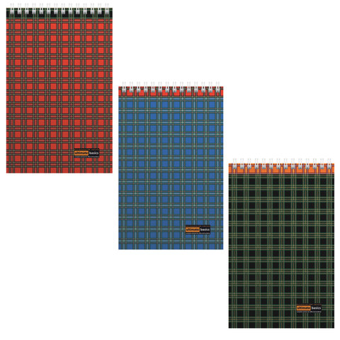 Блокнот А5, 60 л., гребень, ламинированный картон, клетка, АЛЬТ,