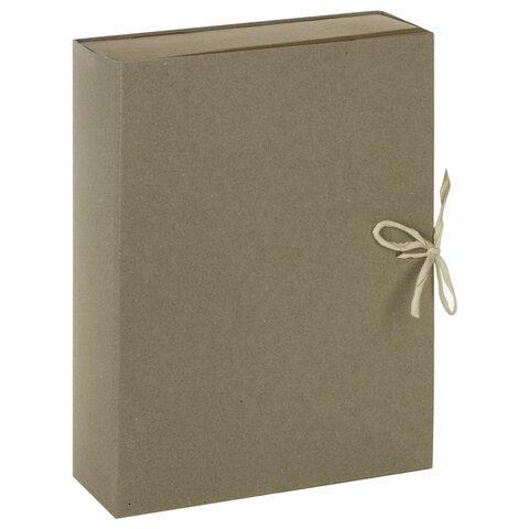 Короб архивный STAFF, А4 (240х330 мм), 70 мм, 2 завязки, переплетный картон, до 600 листов, 111955