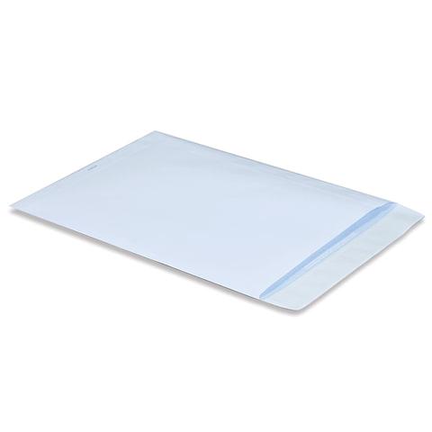 Конверт-пакет В4 плоский (250х353 мм), до 140 листов, белый, отрывная полоса, внутренняя запечатка, 160120