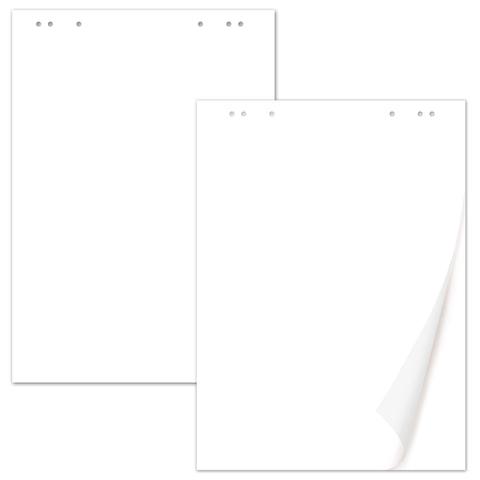 Блокноты для флипчарта BRAUBERG, комплект 5 штук, 20 листов, чистые, 67,5х98 см, 80 г/м2, 124098