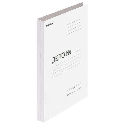 Скоросшиватель картонный ОФИСМАГ, гарантированная плотность 280 г/м2, до 200 листов, 124577