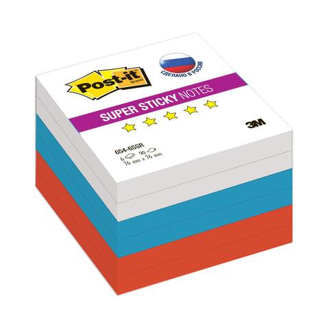 Блоки самоклеящиеся (стикеры) POST-IT Super Sticky