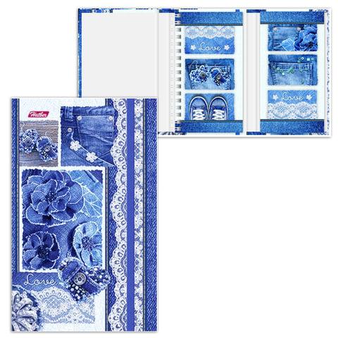 Блокнот МАЛЫЙ ФОРМАТ (105х145 мм) А6, 80+50 л., гребень/склейка, картон, резинка, HATBER,