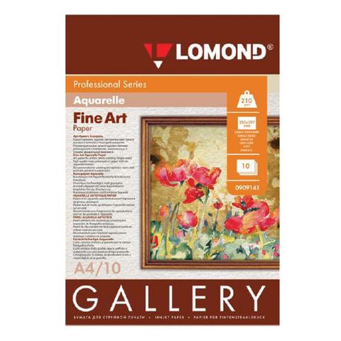Дизайн-бумага LOMOND, фактура акварели, A4, 210 г/м2, 10 листов, односторонняя, матовая, 0909141