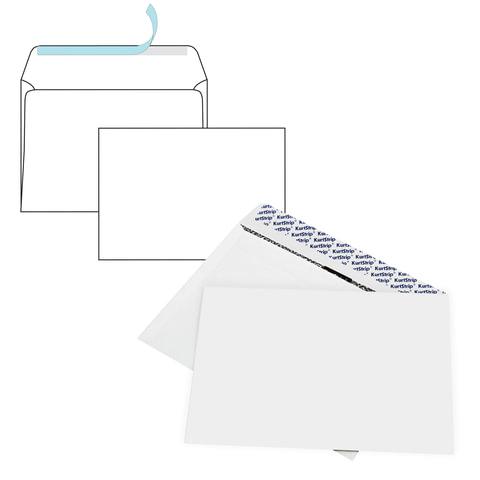 Конверты С4 (229х324 мм), SECURITY, отрывная полоса, белые 90 г/м2, КОМПЛЕКТ 50 шт., внутренняя запечатка, 120180.50