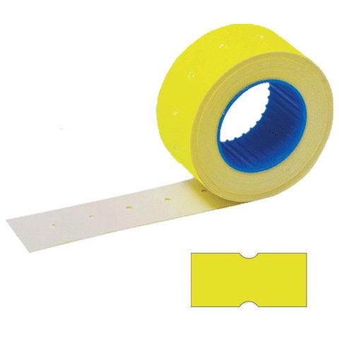 Этикет-лента 21х12 мм, прямоугольная, желтая, КОМПЛЕКТ 100 рулонов по 800 шт., STAFF, 128448