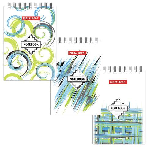 Блокнот МАЛЫЙ ФОРМАТ (75х105 мм) А7, 40 л., гребень, картон, клетка, BRAUBERG,