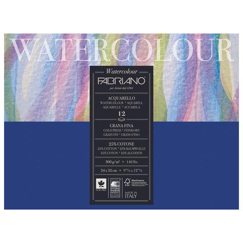 Альбом для акварели FABRIANO Watercolour Studio среднее зерно, 12 л., 300 г/м2, А4+, 240х320 мм, 17312432