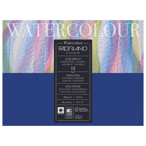 Альбом для акварели FABRIANO Watercolour Studio среднее зерно, 12 л, 300 г/м2, А3+, 360х480 мм, 17313648