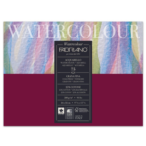 Альбом для акварели FABRIANO Watercolour Studio среднее зерно, 75 л., 200 г/м2, А4+, 240х320 мм, 17522432
