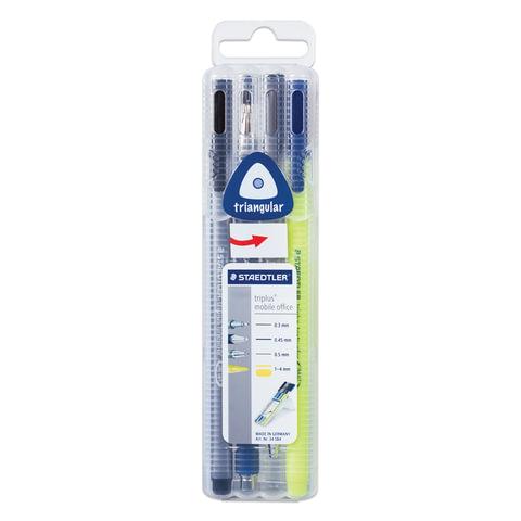 Набор STAEDTLER (Германия), ручка капиллярная, ручка шариковая, карандаш механический, текстмаркер, 34 SB4