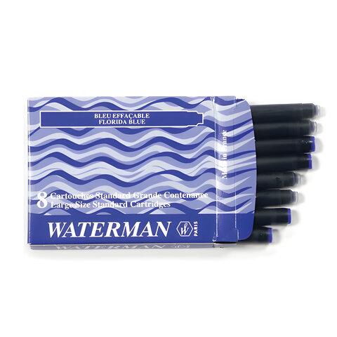 Картриджи чернильные WATERMAN, комплект 8 шт., синие, S0110860