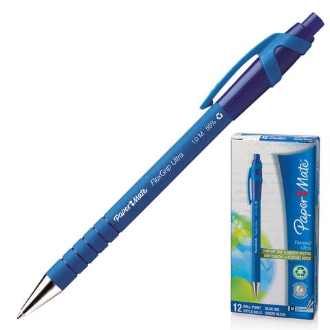 Ручка шариковая автоматическая сгрипом PAPER MATE