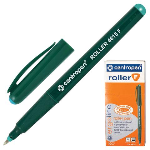 Ручка-роллер CENTROPEN, ЗЕЛЕНАЯ, трехгранная, корпус зеленый, узел 0,5 мм, линия письма 0,3 мм, 4615/1З