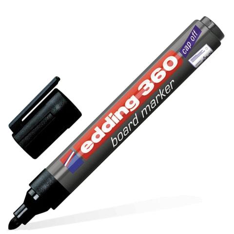 Маркер для доски EDDING 360, ЧЕРНЫЙ, 1,5-3 мм, круглый наконечник, E-360/1