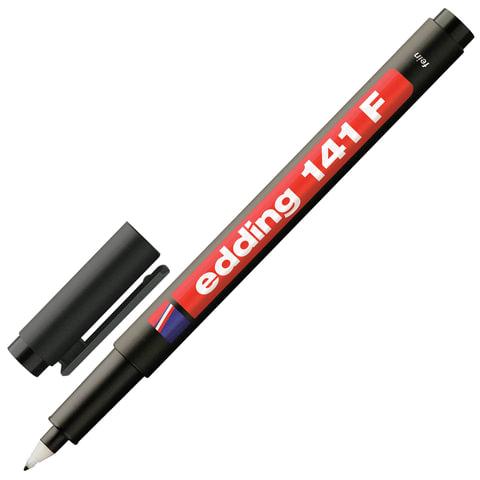 Маркер для пленок и глянцевых поверхностей EDDING 141, 0,6 мм, пластиковый наконечник, черный, E-141/1