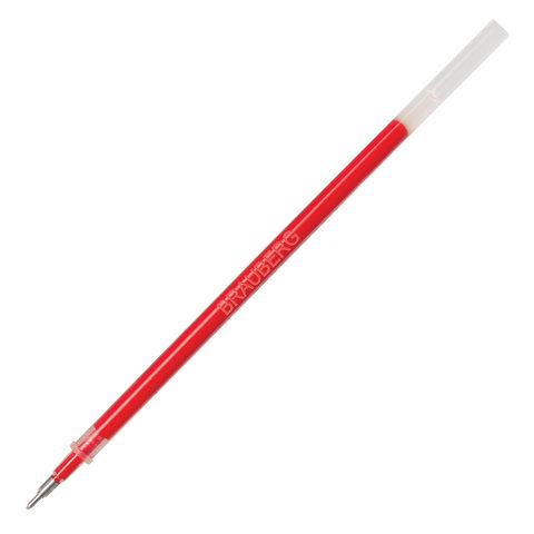 Стержень гелевый BRAUBERG 130 мм, КРАСНЫЙ, игольчатый узел 0,5 мм, линия письма 0,35 мм, 170171