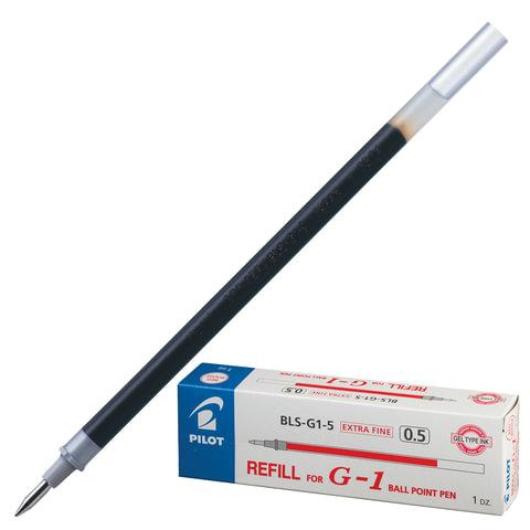 Стержень гелевый PILOT, 128 мм, КРАСНЫЙ, узел 0,5 мм, линия письма 0,3 мм, BLS-G1-5