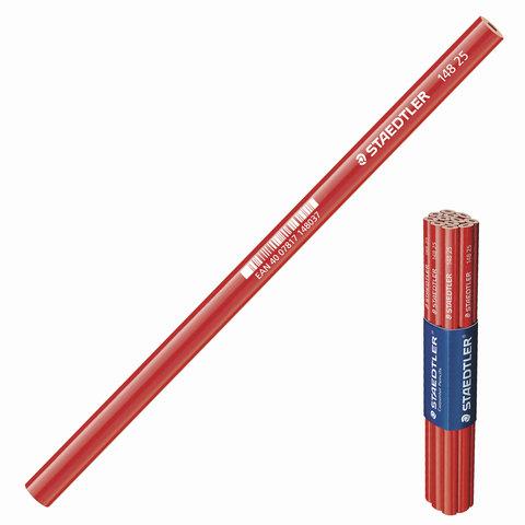 Карандаш столярный STAEDTLER (Германия), 1 шт., HB, грифель 5х2 мм, длина 243 мм, корпус красный, 148 25