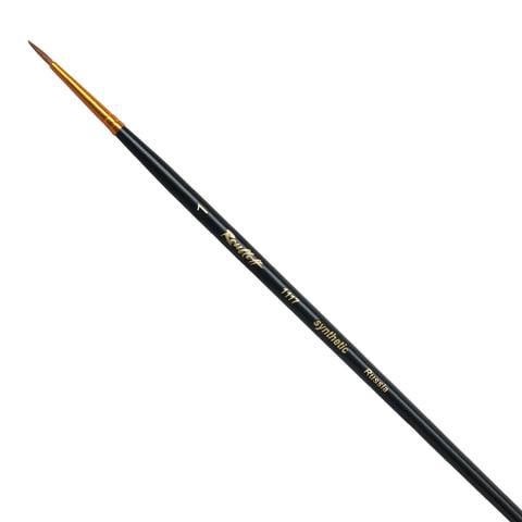 Кисть художественная ROUBLOFF (Рублев), синтетика, жесткая, круглая,  1, короткая ручка, ЖС1-01,00Ж