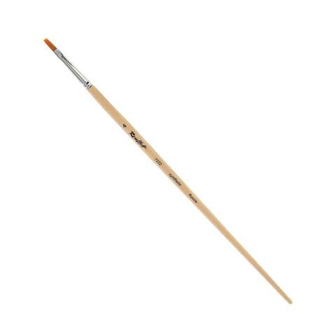 Кисть художественная ROUBLOFF (Рублев) щетина, плоская,  4, длинная ручка, ЖЩ2-04,02Б