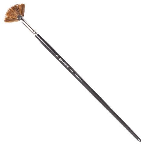Кисть художественная профессиональная BRAUBERG ART CLASSIC, синтетика мягкая, веерная,  8, длинная ручка