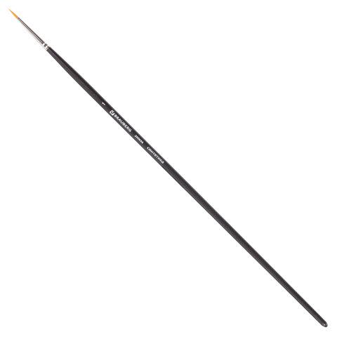 Кисть художественная профессиональная BRAUBERG ART CLASSIC, синтетика жесткая, круглая,  1, длинная ручка