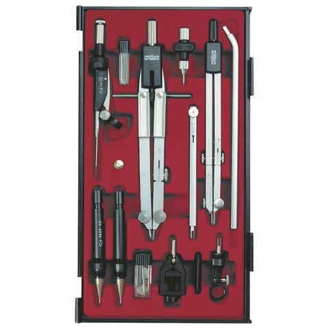 Готовальня профессиональная KOH-I-NOOR, 13 предметов, пластиковый пенал, 09452B0000PE