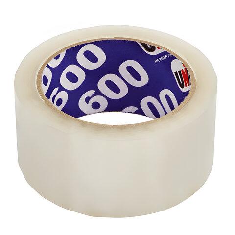 Клейкая лента упаковочная, 48 мм х 66 м, прозрачная, толщина 45 микрон, UNIBOB 600, 29341