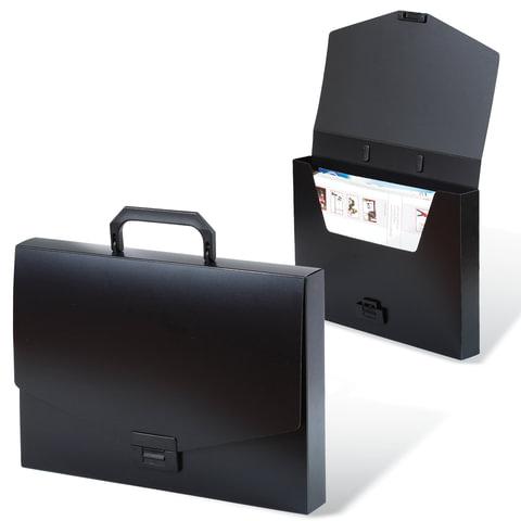 Папка-портфель пластиковая BRAUBERG