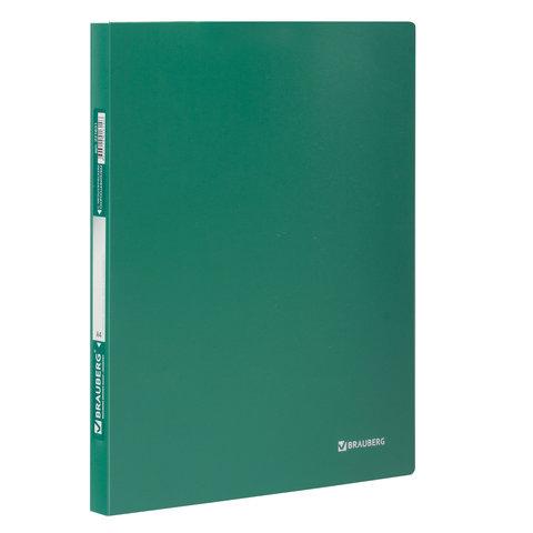 Папка с металлическим скоросшивателем BRAUBERG стандарт, зеленая, до 100 листов, 0,6 мм, 221631