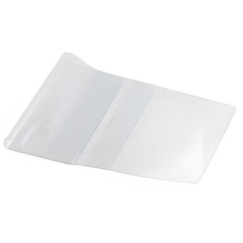 Обложка ПВХ для учебника, универсальная, 110 мкм, 232х450 мм, прозрачная, 15.13