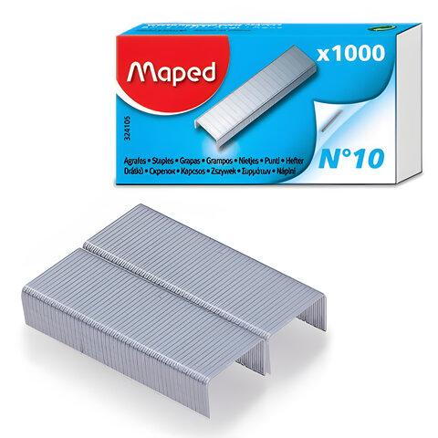 Скобы для степлера 10, 1000 штук, MAPED (Франция), до 20 листов, 324105