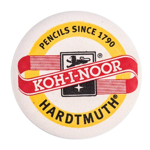 Резинка стирательная KOH-I-NOOR, круглая, диаметр 41 мм, белая, картонный дисплей, 6240041001KK
