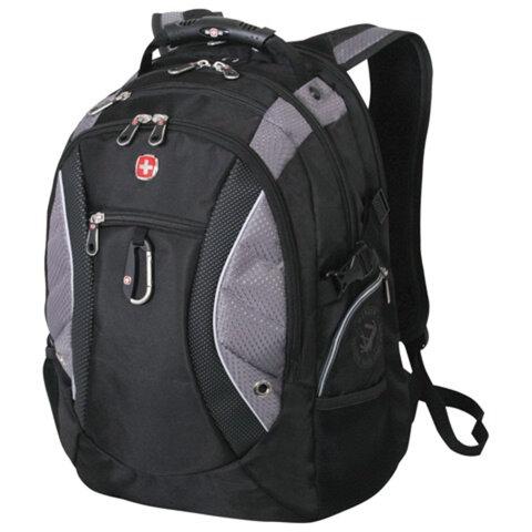 Рюкзак WENGER (Швейцария), универсальный, черно-серый, 39 литров, 36х23х47 см, 1015215