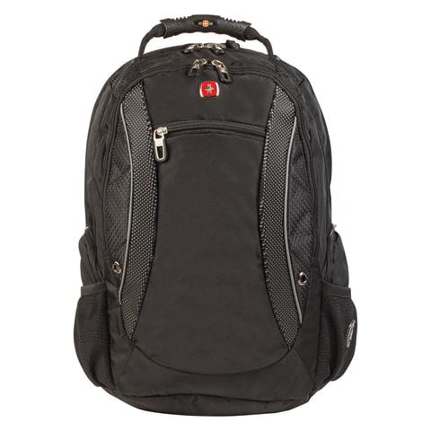 Рюкзак WENGER, универсальный, черно-серый, функция ScanSmart, 40 л, 33х26х47 см, 1155215