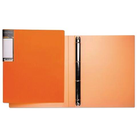 Папка на 4 кольцах HATBER HD, 25 мм, неоново-оранжевая, до 120 листов, 0,9 мм, 4AB4 02035, V160220