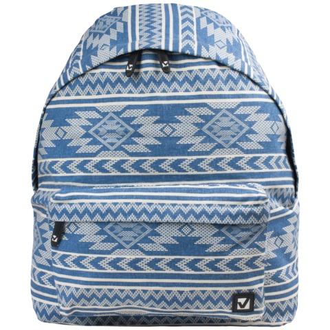 Рюкзак BRAUBERG, универсальный, сити-формат, голубой,