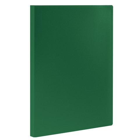 Папка 10 вкладышей STAFF, зеленая, 0,5 мм, 225691