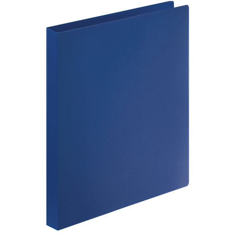 Папка на 4 кольцах STAFF, 25 мм, синяя, до 120 листов, 0,5 мм, 225724