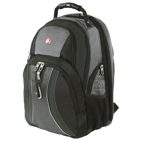 Рюкзак WENGER, универсальный, черно-серый, функция ScanSmart, 36 л, 34х23х47 см, 12704215