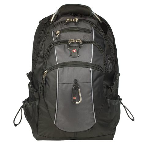 Рюкзак WENGER, универсальный, черно-серый, функция ScanSmart, 38 л, 34х23х48 см, 6677204410